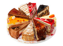 Various Pieces of cake Royalty Free Stock Photo