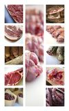 Meats on a collage Royalty Free Stock Photos
