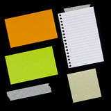 Various Pieces of Paper and Tape Royalty Free Stock Photos
