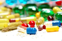 Various pills Royalty Free Stock Image