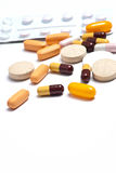 Various pills background Royalty Free Stock Photo
