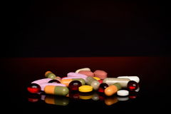 Various pills Stock Photo