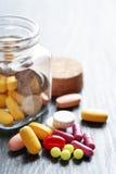 Various Pills Stock Image