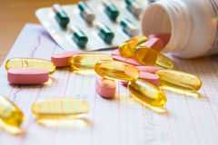 Various pills Stock Photos