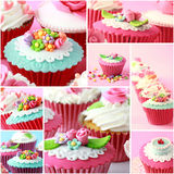 Various pinky and red cupcake, close up Stock Photo
