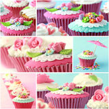 Various pinky and red cupcake, close up Stock Image