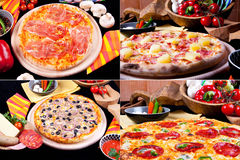 Various pizza Royalty Free Stock Photo