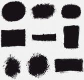 Various Platter Splotch Vector Shapes. Set of 9 splatter and splotch vector files Royalty Free Stock Photography
