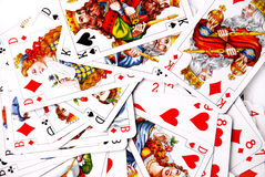 Various playing cards Stock Images