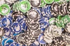 Various poker chips Stock Photo