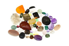 Various Polished Gem Stones Stock Images