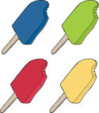 Various Popsicles Royalty Free Stock Images