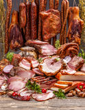 Various pork meat products Stock Images