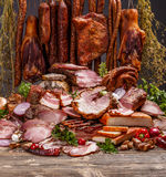 Various pork meat products Stock Photography