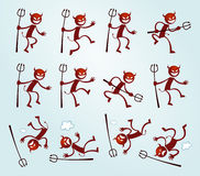 Free Various Pose Of Devil Royalty Free Stock Images - 37868829
