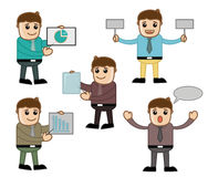 Various Poses - Office and Business People Cartoon Character Vector Illustration Concept Royalty Free Stock Photos