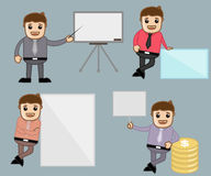 Various Poses - Office and Business People Cartoon Character Vector Illustration Concept Royalty Free Stock Image