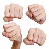 Various poses of punch fist isolated Stock Images