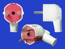 Various position of electric plug Stock Image
