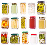 Various preserved food Royalty Free Stock Images