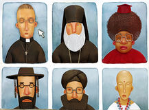 The various priests Royalty Free Stock Images