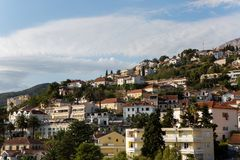 Various private houses on the mountain in the city royalty free stock photo