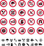 Prohibitory sign Royalty Free Stock Image