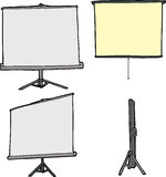 Various Projection Screens Royalty Free Stock Images