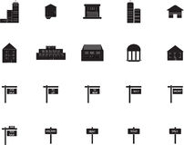 Various property icons. On white background Vector Illustration