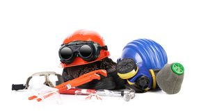 Various protection equipment. Royalty Free Stock Images
