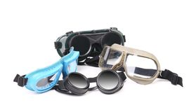 Various protective eyeglasses. Royalty Free Stock Photo