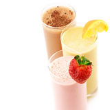 Various protein cocktails Royalty Free Stock Photos