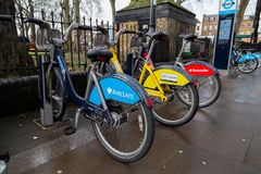 Various Public Bikes in London Stock Photography