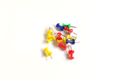 Various push pins Stock Images