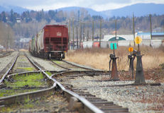 Various Railroad Track Switches Stock Photo