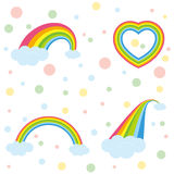 Various rainbows Royalty Free Stock Photos