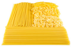 Various raw pasta Royalty Free Stock Photo