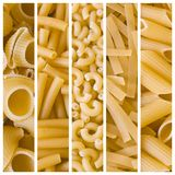 various raw pasta collage Stock Image