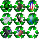 Various recycling. Images for use in your environmentally friendly project Royalty Free Stock Image