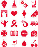 Red icons Stock Image
