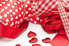 Various red ribbons Stock Images