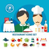 Restaurant Icons Set Royalty Free Stock Photography