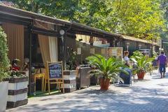 Various restaurants in Gelendzhik Stock Photo