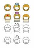 Various rings. Vector illustration of rings, EPS 8 file Stock Illustration