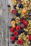 Various ripe berries on a table Stock Photo