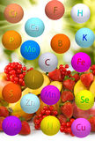 Various ripe fruits and berries close-up Royalty Free Stock Photo