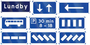 Various Road signs used in Sweden. Collection of Various Road signs used in Sweden Royalty Free Stock Photography