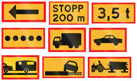 Various Road signs used in Sweden Royalty Free Stock Photography