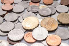 Romanian coins, Romanian currency Royalty Free Stock Photos