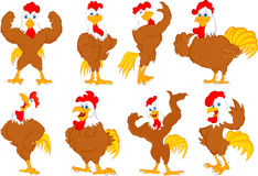 Various rooster cartoon Stock Photos